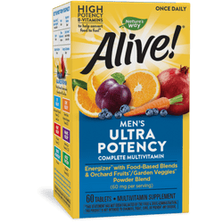 Nature's Way Alive! Once Daily Men's Ultra Potency Multivitamin - 60 Tablets