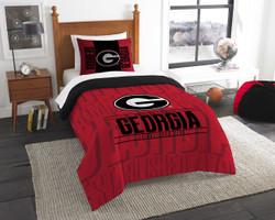 Georgia Bulldogs Bedding Twin Comforter and Sham Set