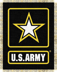 United States Army Woven Tapestry Throw