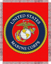 United States Marines Woven Tapestry Throw