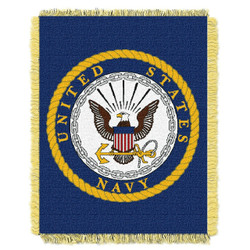 United States Navy Woven Jacquard Throw