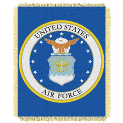United States Air Force Woven Jacquard Throw