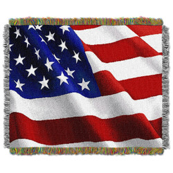 Flag Movement Woven Tapestry Throw
