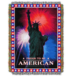 July 4th Holiday Woven Tapestry Throw