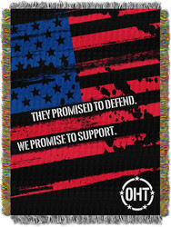 Operation Hat Trick Full Color Pride Woven Tapestry Throw Blanket