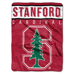 Stanford Cardinal Basic Raschel Throw Blanket