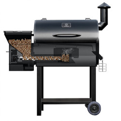Z Grills Pro 7002 Wood Pellet Barbecue Grill and Smoker - ZPG-7002B