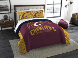 Cleveland Cavaliers NBA Bedding Full/Queen Comforter and 2 Sham Set
