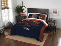 Denver Broncos NFL Bedding Full/Queen Comforter and 2 Sham Set