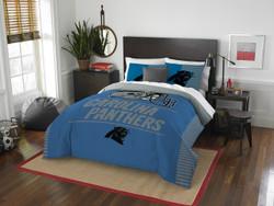 Carolina Panthers NFL Bedding Full/Queen Comforter and 2 Sham Set