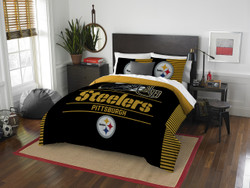 Pittsburgh Steelers NFL Bedding Full/Queen Comforter and 2 Sham Set