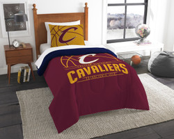 Cleveland Cavaliers NBA Bedding Twin Comforter and Sham Set
