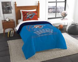 Oklahoma City Thunder NBA Bedding Twin Comforter and Sham Set