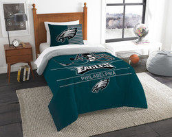 Philadelphia Eagles Bedding NFL Draft Twin Comforter and Sham Set