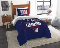 New York Giants NFL Bedding Twin Comforter and Sham Set