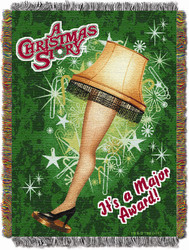 A Christmas Story Retro Lamp Woven Tapestry Throw