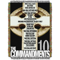 Big Ten Commandments Woven Tapestry Throw