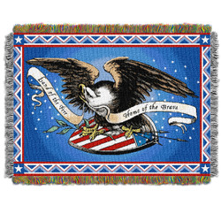 Memorial Day Holiday Woven Tapestry Throw