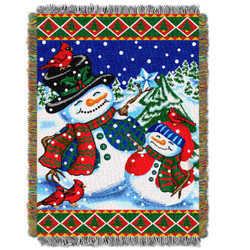 Winter Pals Holiday Woven Tapestry Throw