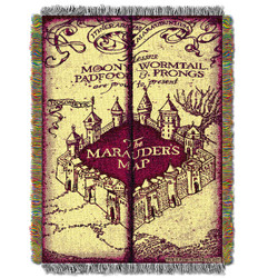 Harry Potter Marauders Map Woven Tapestry Throw