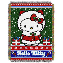 Hello Kitty Snowy Kitty Woven Tapestry Throw