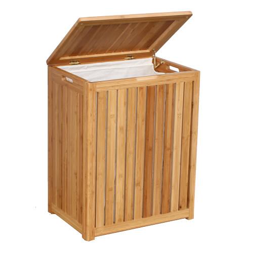 Oceanstar Spa-Style Bamboo Laundry Hamper