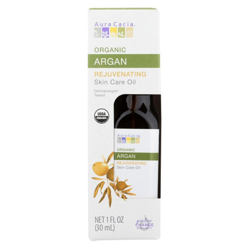 Aura Cacia Organic Argan Skin Care Oil - 1.0 fl oz (Case of 3)