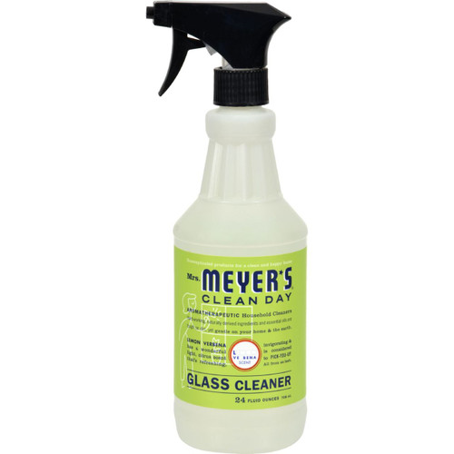 Mrs. Meyer's Clean Day Lemon Verbena Glass Cleaner 24 fl oz Case of 6