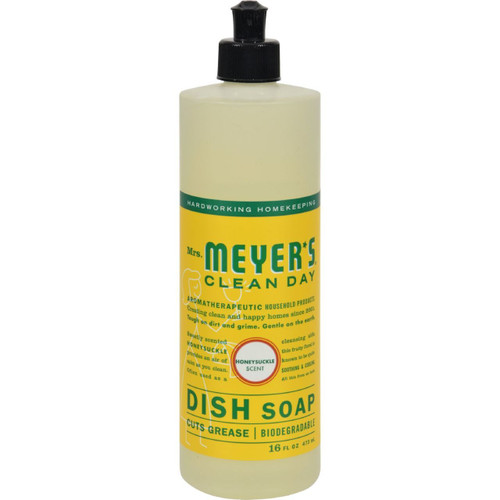 Mrs. Meyer's Clean Day Honeysuckle Dish Soap 16 fl oz Case of 6