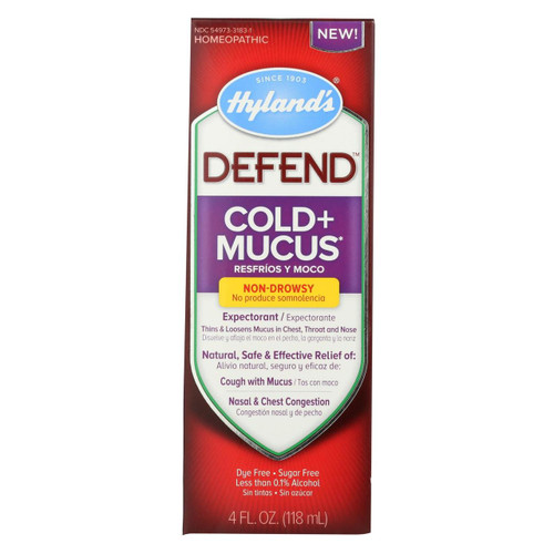 Hyland's Defend  Cold and Mucus 4 fl oz