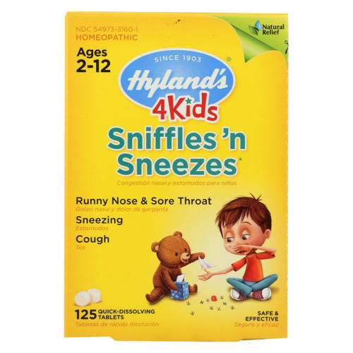 Hyland's 4 Kids Sniffles 'n Sneezes 125 Tablets