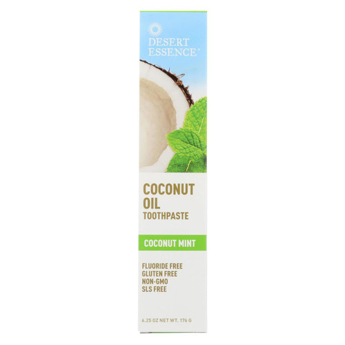 Desert Essence Toothpaste Coconut Oil  Mint 6.25 oz