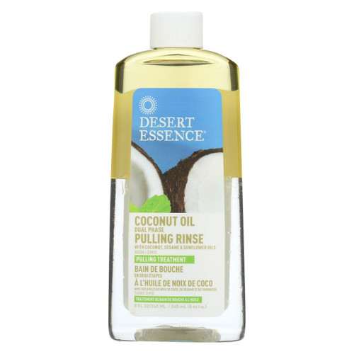 Desert Essence Coconut Oil Dual Phase Pulling Rinse 8 fl oz