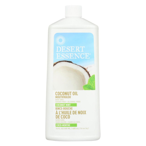 Desert Essence Mouthwash Coconut Oil Mint 16 fl oz
