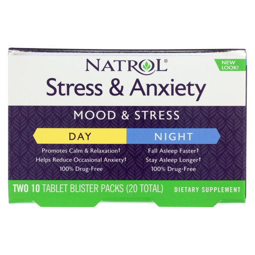 Natrol Stress & Anxiety Day and Nite Formula (20 Tablets)