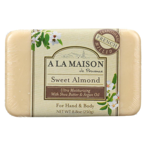 A La Maison Sweet Almond Bar Soap - 8.8 oz