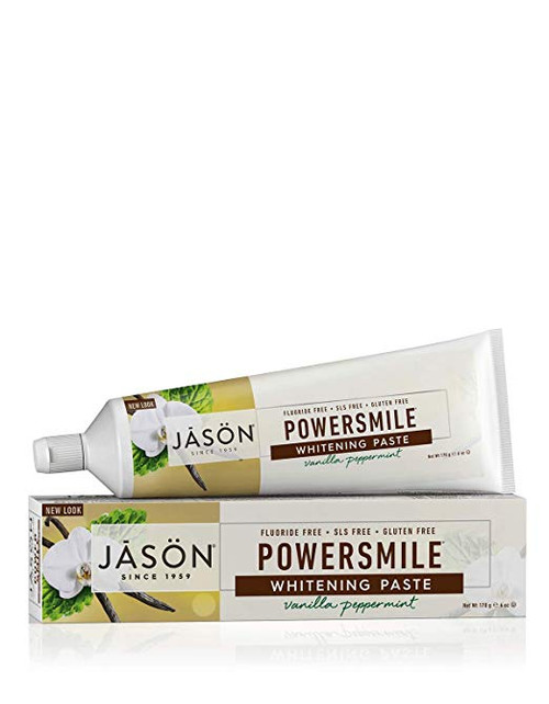 Jason Powersmile Whitening Paste Vanilla Peppermint - 6 oz