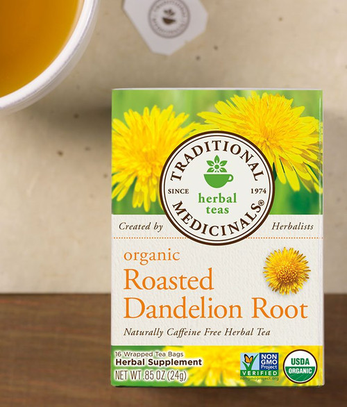 Traditional Medicinals Organic Roasted Dandelion Root Caffeine Free Tea - 16 Bags