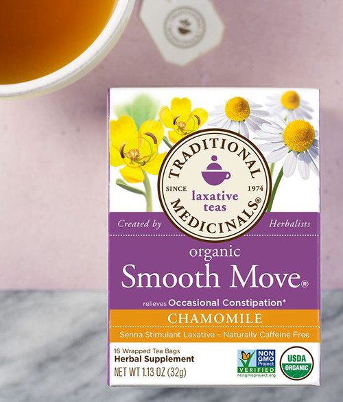Traditional Medicinals Organic Smooth Move Chamomile Herbal Tea - Case of 6