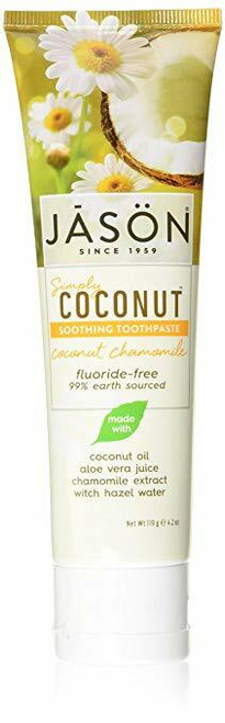 Jason Simply Coconut Soothing Toothpaste Coconut Chamomile - 4.2 oz