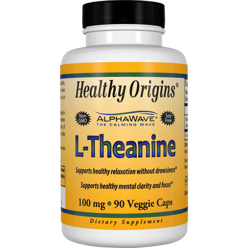 Healthy Origins - L-Theanine - 100 mg - 90 Vegetarian Capsules