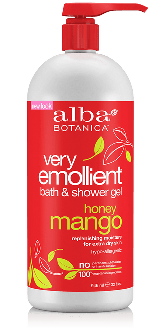 Alba Botanica Very Emollient Honey Mango Bath & Shower Gel - 32 fl oz