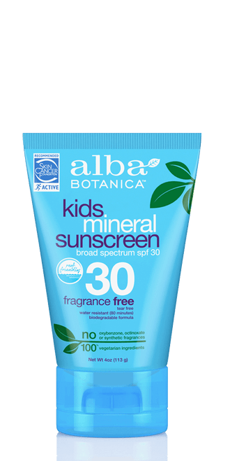 Alba Botanica Kids Mineral Fragrance Free Sunscreen Lotion SPF 30 - 4 oz