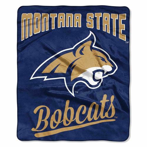 Montana State Bobcats Alumni Raschel Throw Blanket
