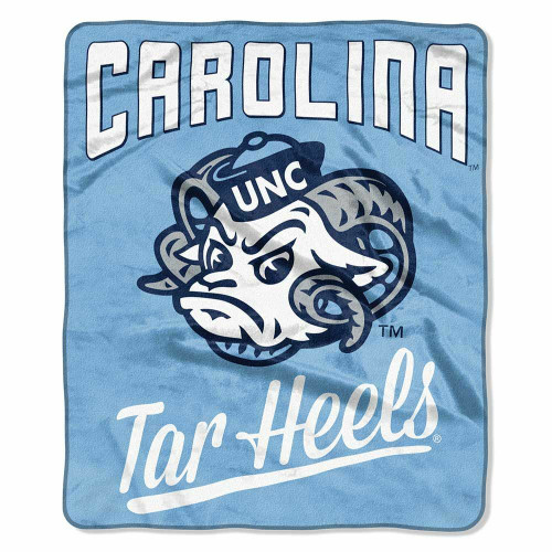 North Carolina (UNC) Tar Heels Alumni Raschel Throw Blanket