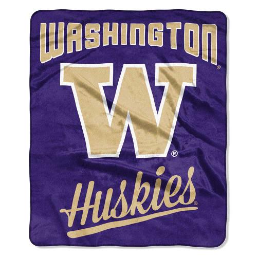 Washington Huskies Alumni Raschel Throw Blanket