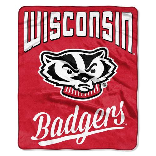 Wisconsin Badgers Alumni Raschel Throw Blanket