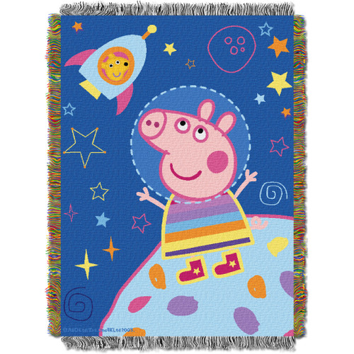 Peppa Pig Love My Space Woven Tapestry Throw Blanket