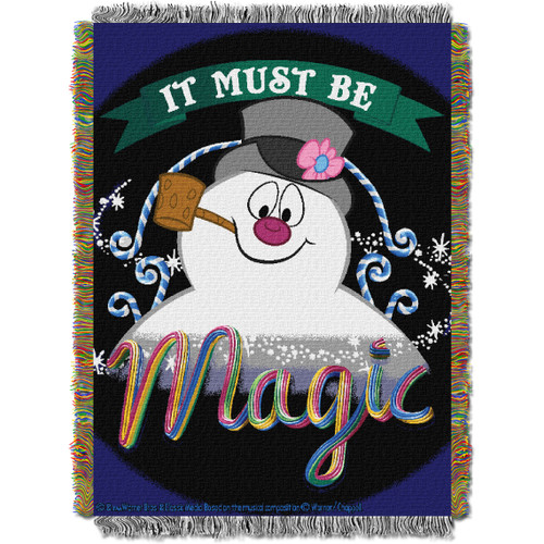 "Frosty the Snowman, ""It's Magic"" Woven Tapestry Throw Blanket"