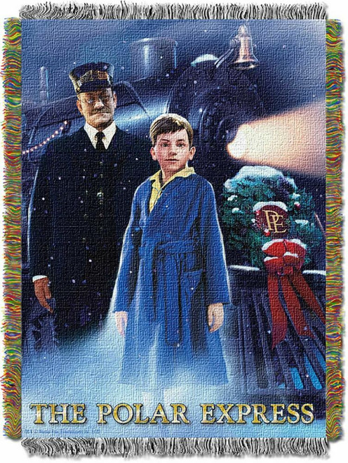 The Polar Express We Believe Woven Tapestry Throw Blanket